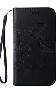 銀河の他人のためにストラップ携帯電話とのエンボス加工蝶の財布のスタイル