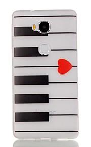 modelo noche de piano luminosa TPU caso suave para 5x Honor Huawei