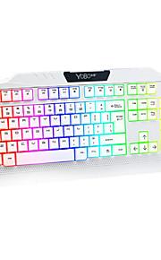 diseño de teclado de juego especial conector USB 6d roja