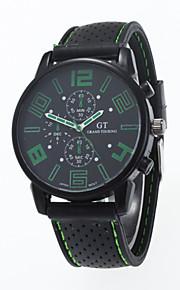 Masculino / Mulheres / Unissex Relógio de Pulso Quartz / Silicone Banda Casual Preta marca