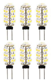10 i en 3528 G4 26 smd varmt hvitt lys bil pære lampe 3000-3500k (DC12V)