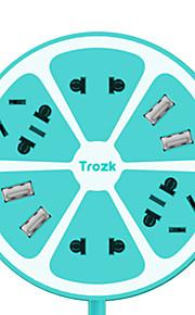 trozk multifunción carga regleta de salida 4 4 hub usb cargador de enchufe inteligente placa de línea verde amarillo, azul, rosa