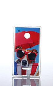 vidrios modelo del perro TPU + IMD caso suave para el Nokia Lumia N640 / n535 / N435