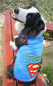 3XL~9XL Dog Shirt / T-Shirt Blue / Yellow / Gray Summer / Spring/Fall Letter & Number / Sport Fashion-Lovoyager