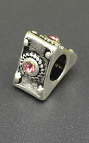 DIY beaded armbånd halskæde sølv plating tilbehør mode trekant miskredit indlagt cz lampwork perler hac0059
