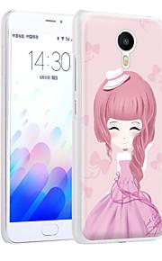 ximalong la cáscara del teléfono chica moderna relieves pintados aplican para mei zu nota m3