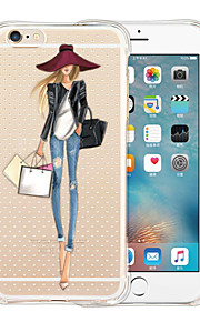 favoritos da rainha silicone de volta caso transparente macio para o iPhone 5 / 5s (cores sortidas)