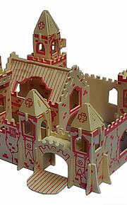 a vila de madeira princesa quebra-cabeças 3D DIY brinquedos
