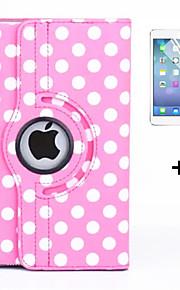 360 graders runda prickar PU läder luckan fall för ipad luft 2 (blandade färger) + skärmskydd film penna