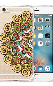 capital del mandala funda de silicona transparente trasero suave para el iPhone 6 / 6s (colores surtidos)