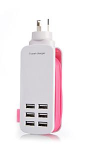 au enchufe 6port toma de cargador USB lightningproof contra sobrecarga 5v longitud 6a de la cuerda: 1,4 m (colores surtidos)