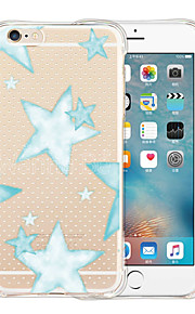 Star Soft Transparent Silicone Back Case for iPhone 6/6S (Assorted Colors)