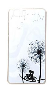 Diente de león romántica nueva TPU suave cubierta de la caja para las bolsas de las cajas del teléfono móvil Doogee x5