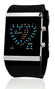 Unisex  Digital  Korean Heart-Shaped Creative LED Electronic Watch Waterproof(Assorted Colors)