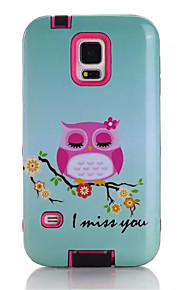 Cartoon Soft TPU Silicone Transparent Phone Case For Samsung Galaxy S5 Owls Printed Plastic Protective Cover