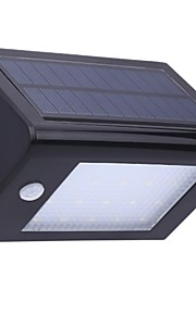 la pared de la lámpara a prueba de agua sensor de movimiento PIR cuerpo humano luz 20leds recargables pared de la luz corriente de la
