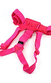 Elastic Adjustable Chest Strap Belt Mount for GoPro Hero 1 Hero 2 Hero 3 Hero 3+ Sports Camera Pink