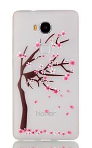 estuche blando luminosa noche de la flor de cerezo de TPU para Huawei 5x de honor