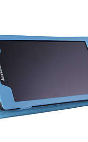 Funda de piel lichi original de 7 pulgadas tableta de Lenovo ficha 2 a7-10 / a7-10f con la cubierta del caso del soporte