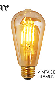 1 stk. GMY E26/E27 3W 4 COB ≥330 lm Varm hvit ST64 edison Vintage LED-glødepærer AC 220-240 V