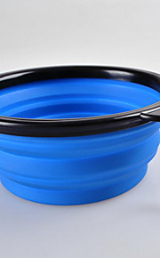 Practical Foldable Silica Pet Bowl with Mountain Belt Buckle