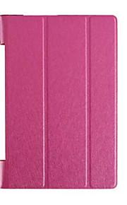 """cuero de la PU de triple patrón de plegamiento de alta calidad para la lengüeta de Lenovo Yoga 3 850F 8 """"tableta (colores surtidos)"""