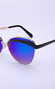 Solbriller mænd / kvinder / Unisex's Mode Øjenbrunslinje Sort / Guld Solbriller Full-Rim