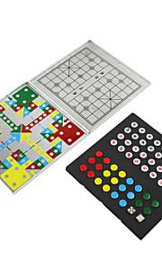 mini alluminio magnetica di viaggio 4-in-1 multi-funzione di piegare scacchi puzzle game scacchi