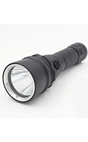 Lights LED Flashlights/Torch LED 1600 Lumens 2 Mode Cree XM-L2 18650 WaterproofCamping/Hiking/Caving / Everyday Use / Diving/Boating /