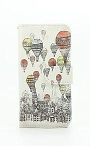luftballon mønster pu læderetui med kort slot og står for Samsung Galaxy A310 / A510