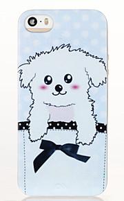 Hunden mønster glitter shine TPU myk tilbake tilfelle for iPhone 5 / 5s / se