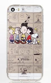 snoopy familie TPU myk tilbake tilfelle for iPhone 5 / 5s / se