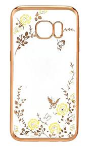 geheime tuin bloem vlinder diamanten zachte TPU cover voor Samsung Galaxy S-serie