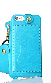 PU Leather Belt Hang Rope Cell Phone Holster Protection Cover for IPhone 5/5S/SE(Assorted Colors)