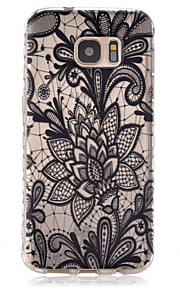 Black And White Dish Pattern Slip TPU Phone Case For Samsung Galaxy S7/S7 edge