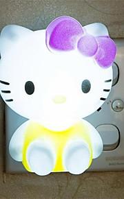 creatieve warm witte kat met betrekking tot kindje slaap 's nachts het licht