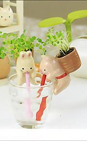 Animal Farm Ceramic Backpack Plant Pot Animal Planters Desktop Mini Potted Plant Creative Gifts Random Color