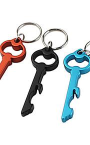 nyckel formad flasköppnare nyckelring (slumpvis färg)