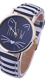 2016 new Fashion Women Casual Watch Little Cat Pattern wristwatch for Girl Students Quartz cartoon watch clock hours