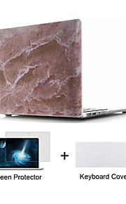 "Marble Design Hard Full Body Case with Keyboard Cover and Screen Protector for Macbook  Pro 13""/15"""