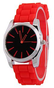 Mulheres Relógio de Moda Quartzo Silicone Banda Casual Azul Vermelho Amarelo Amarelo Vermelho Azul