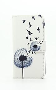 mælkebøtte mønster pu læderetui med kort slot og står for Samsung Galaxy A310 / A510