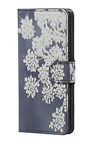 flores que florecen magnética cubierta de caja de cuero del soporte del tirón de la PU para Lenny wiko 3