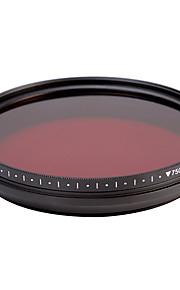 fotga® alt-i-én justerbar 530 nm-750 nm infrarøde ir pass røntgen linse filter 77mm