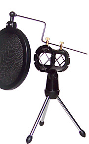 shock mount mikrofonstativ holder med integreret pop filter sort kit
