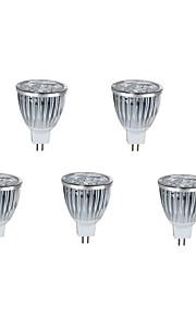 5 stk. HRY GU5.3(MR16) 10W 5 Høyeffekts-LED 800 lm Varm hvit / Kjølig hvit MR16 Dekorativ LED-spotpærer DC 12 V