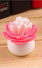 Lotus Toothpicks Holder Cotton Swab Box Chambre Vase Décoration