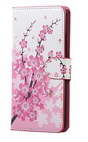 K5 X220을 LG 전자에 대한 매화 자기 PU 가죽 지갑 플립 스탠드 케이스 커버