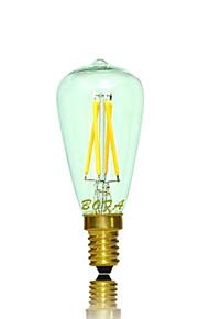 1 stk. NO E14 3W 4 COB 200-300 lm Varm hvit Tube Dimbar / Dekorativ LED-globepærer AC 220-240 / AC 110-130 V