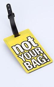 Travel Etiqueta para Mala Acessório de Bagagem Plástico Roxa